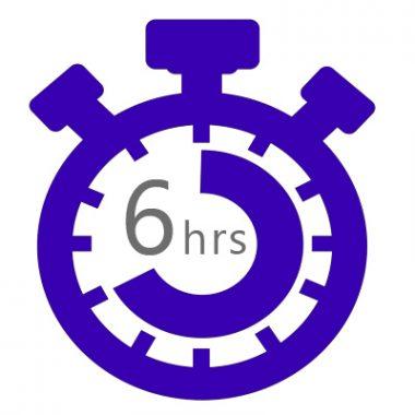 Сроки выполнения заказов от 6 до 24 часов